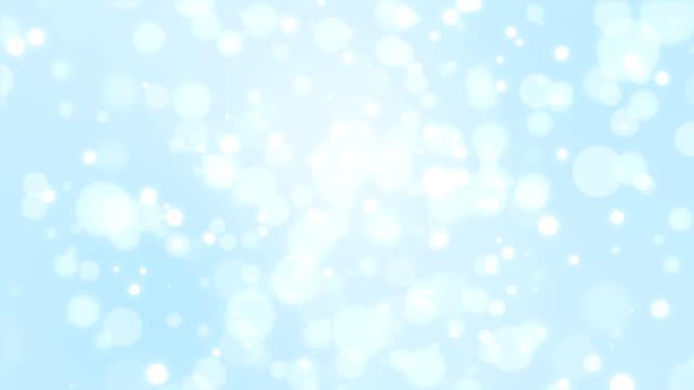 Blue winter bokeh background video