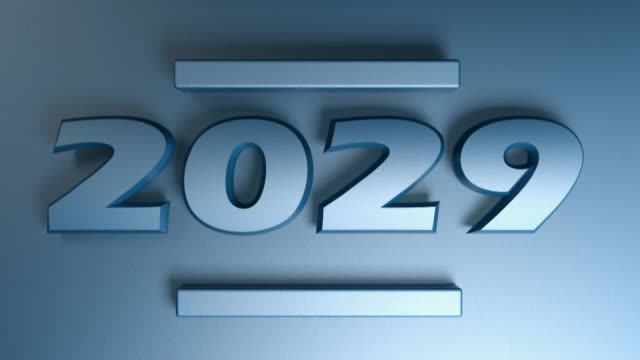 2029 blue write isolated on blue background - 3D rendering illustration video clip The write 2029 in blue numbers, isolated on blue background - 3D rendering illustration video clip 2020 2029 stock videos & royalty-free footage