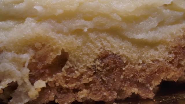 blueberry cheesecake,rotate macro shot. - sernik filmów i materiałów b-roll