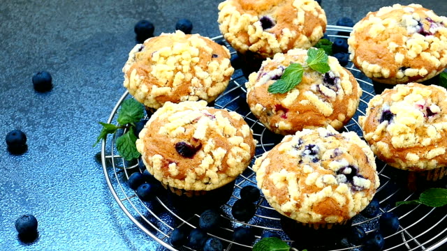Blueberry muffin video