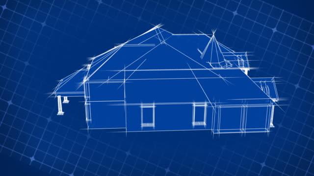 Blueprint House Design 3D video