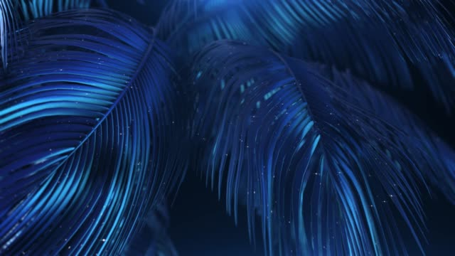 blue-violet abstract palms with glitter - abstract nature stock videos & royalty-free footage