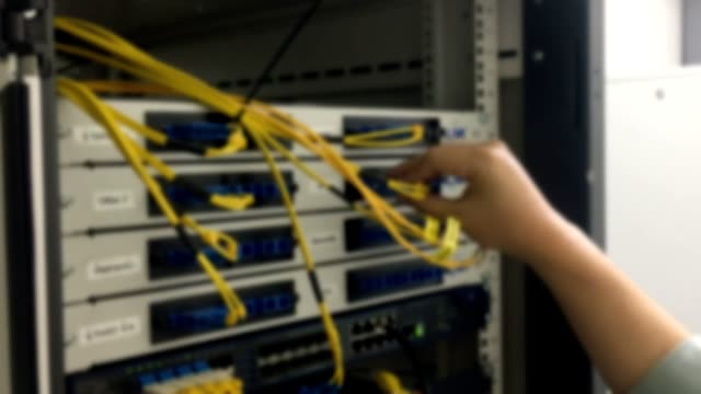 Blur, check the fiber optic network in front of the rack.