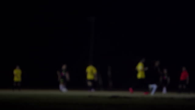 Blurred background of a football field video
