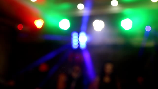 blurred background of light music. Multi-colored light-emitting diodes change color.