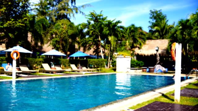 Blurred background : Swimming Pool. video