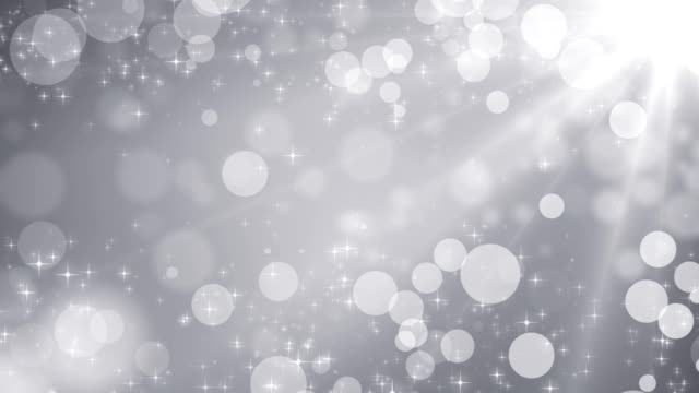 Blurred blue lights and sparkles seamless background video