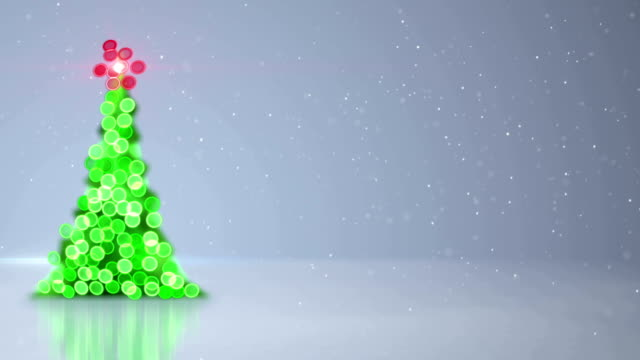 blurred christmas tree bokeh lights loopable background video