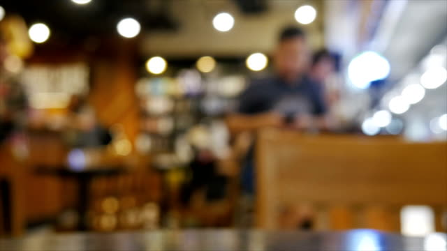 Blurred coffee shop Blurred coffee shop wait staff stock videos & royalty-free footage