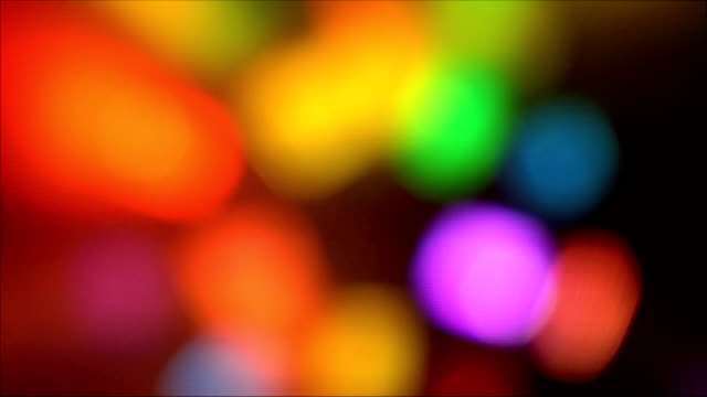blurred colorful spots of light video