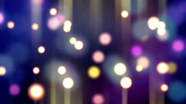 blurred glowing bokeh lights loop background video