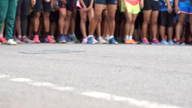 Blurred Marathon Runners And Fun Run.