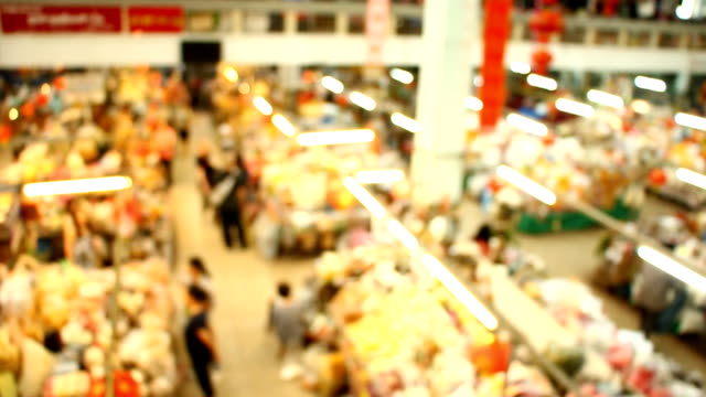 suddig marknaden i chiang mai thailand - dagligvaruhandel, hylla, bakgrund, blurred bildbanksvideor och videomaterial från bakom kulisserna