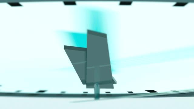 blurred modern clock time lapse video