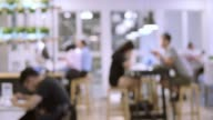 istock Blurred Motion of people in restaurant blur background 1190836506