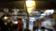 istock 4K: Blurred, people in modern restaurant. 1185790240