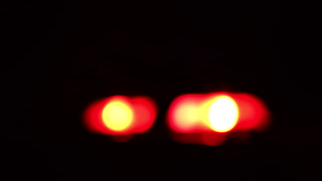 Blurred Red & Blue Police Sirens / Flashing Lights video