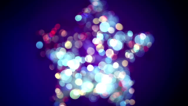 blurred star shape and bokeh lights seamless loop animation video