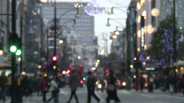HD: Blurred Winter / Holiday Shoppers video