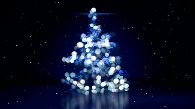 blurry christmas tree with blue lights seamless loop blurry christmas tree with blue lights. computer generated seamless loop animation. christmas lights stock videos & royalty-free footage