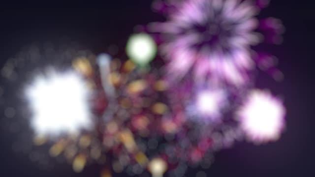 vídeos y material grabado en eventos de stock de fuegos artificiales borrosos del lazo - inauguration