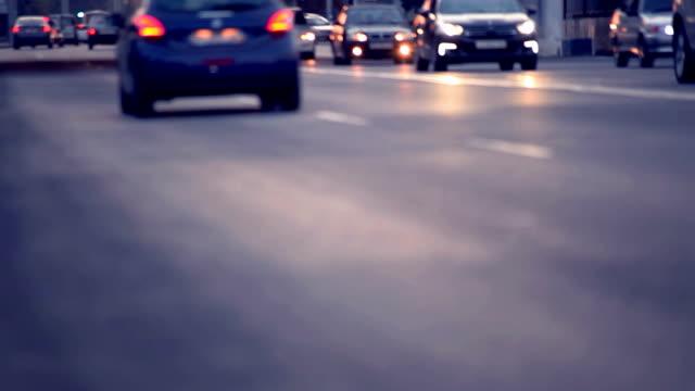 Blurry traffic in evening