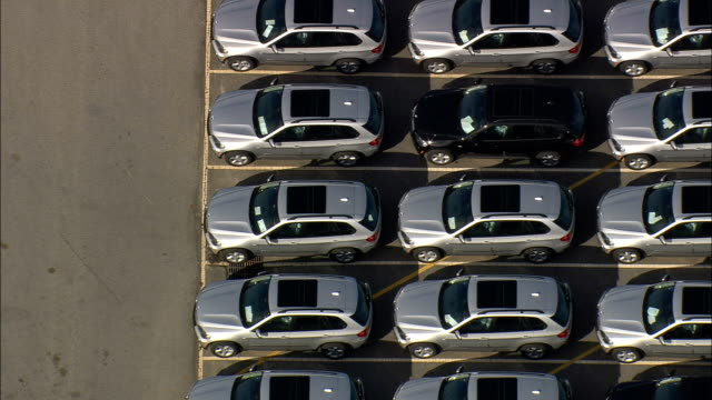 bmw plant - aerial view - south carolina,  pickens county,  united states - ripetizione video stock e b–roll