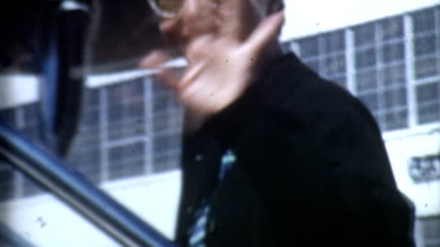 Boarding a Plane 1950's video