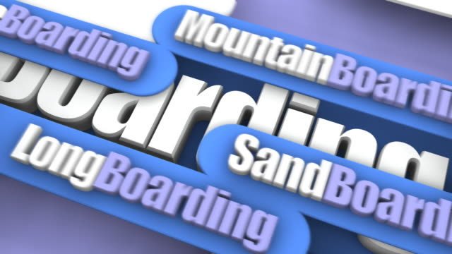 Boarding Sports Concept video