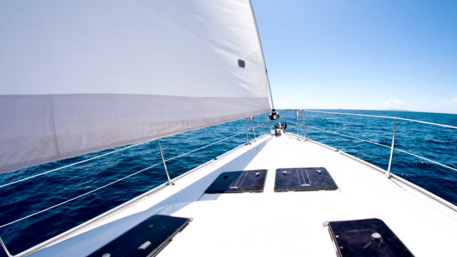MS Boat Deck Of A Sailboat video