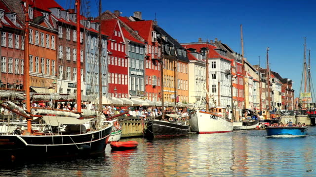 boat harbor in copenhagen denmark video