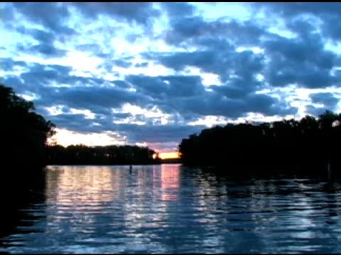 Boat Landing Sunset Timelapse NTSC video