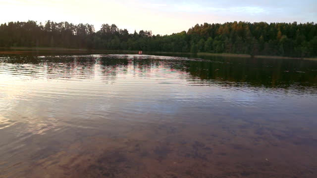 boat on lake video