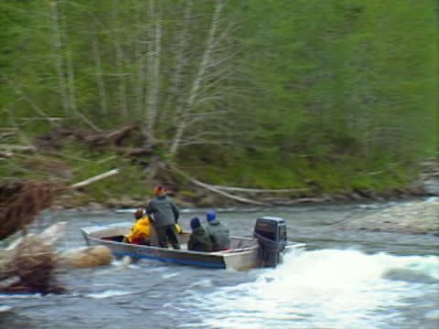BC boat on river 03 video
