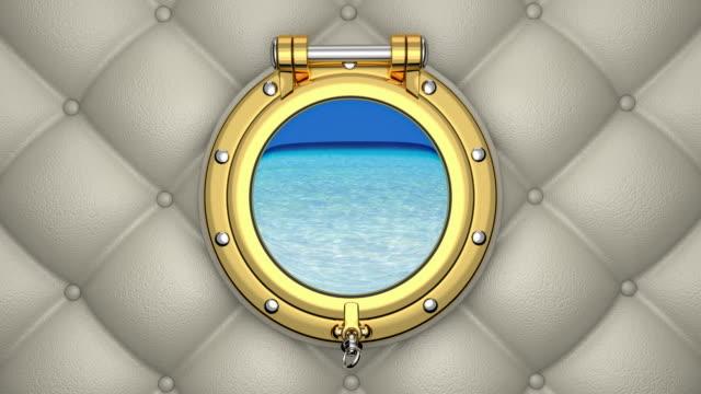 Boat porthole 3D animation video