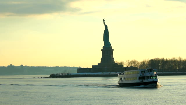 Boat Ride Statue of Liberty Sequence video