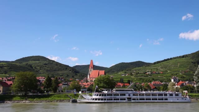 Boat ride through Wachau Valley, Austria