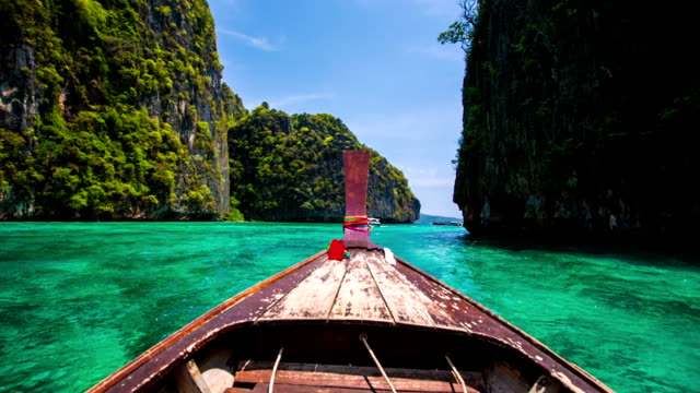 boat trip in tropical lagoon - exotic stock videos & royalty-free footage