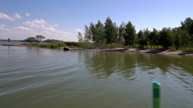 boating among the islands of southern finland in the baltic sea. - arcipelago video stock e b–roll