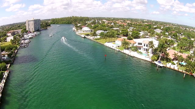 Boating inlet in South Florida video