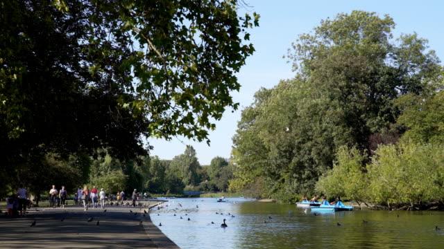 Boating Lake im London Regent es Park – Video