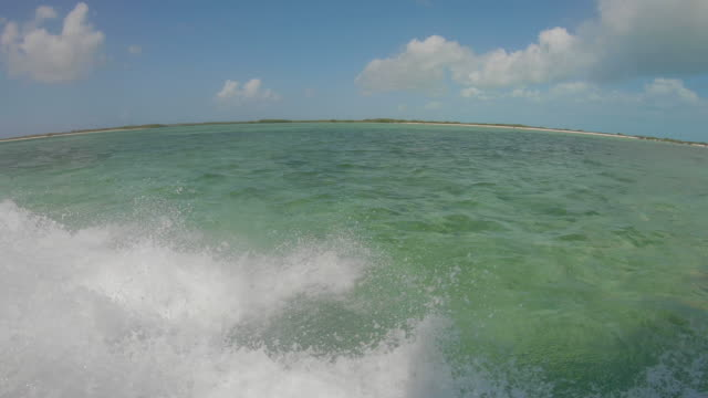 Boating over Coral Reef Underwater in Turks and Caicos View out side of boat over coral reef in tropical Turks and Caicos turks and caicos islands stock videos & royalty-free footage