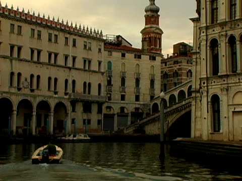 boating through venice italy - passenger craft stock videos & royalty-free footage