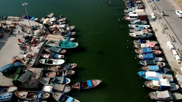 Boats in Fisherman's Wharf, Karsiyaka, Izmir video