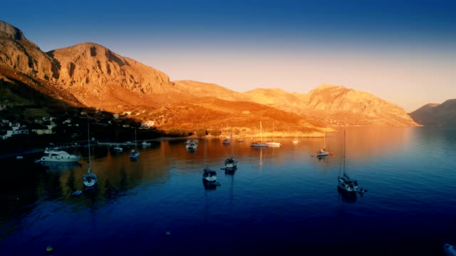 Boats in ports - Kalymnos - 1 video