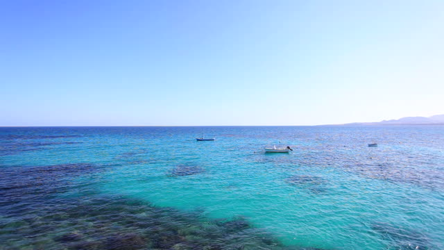 Boats in the Ocean, Canary Islands HD Video video