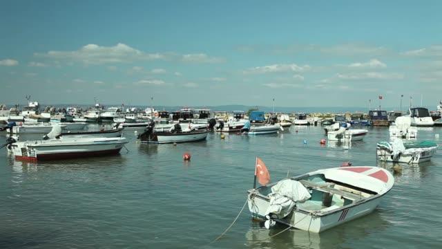 Boats in the Saros Bay/Guneyli Village in the Canakkale-TURKEY Canakkale/Turkey