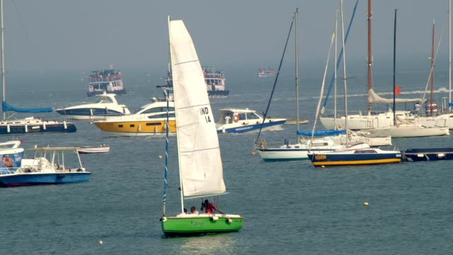 Boats in the sea Beautiful close up shot of boats in the sea regatta stock videos & royalty-free footage