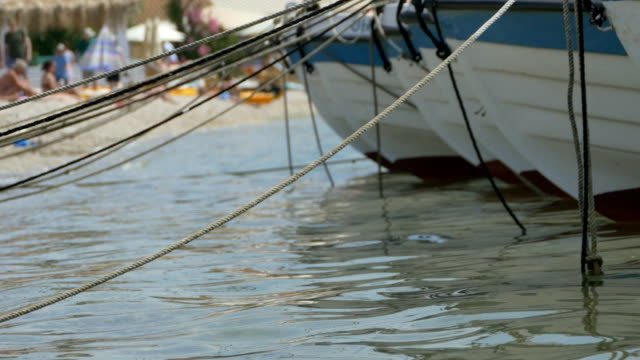 Boats Moored near Beach video