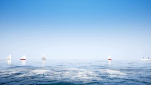 açık mavi okyanus gemilerde - okyanus gemisi stok videoları ve detay görüntü çekimi